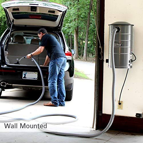 VacuMaid GV50PRO Wall Mounted Garage and Car Vacuum with 50 ft. Hose...