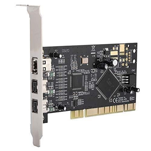 Vbestlife PCI de 3 Puertos Firewire 800 1394 b/a (2B1A) Tarjeta de Captura de Video Adaptador de Tarjeta controladora de 800 Mbps, PCI 16X a 2 Puertos 1394B + 1 Puerto 1394A