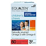 Equazen Childrens Chews | Omega 3 & Omega 6 Supplement | 60 Strawberry