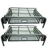 Mesh Monitor Stand Riser & Computer Desk Organizer Black Shelf - with Pull Out Drawer & Side Compartment - for...