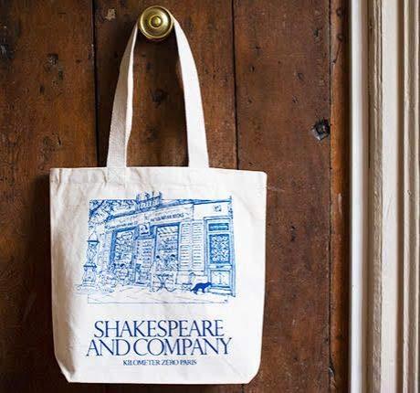 シェイクスピアアンドカンパニー キャンバス地トートバッグ エコバッグ Shakespeare and Company フランス