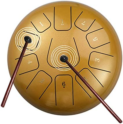 Steel Tongue Drum 11 Notes 8 Inch Pan Drum Percussion Steel Drum Instrument with Mallets Mallet product image