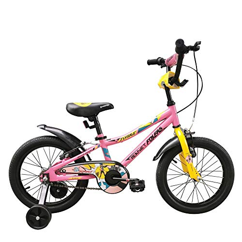Firefox Bikes Flydale Kid's Light Weight Frame 8.5 inches Anti-Skid Pedal Power Brake 16 inches Wheel Seat Height Adjustment Cycle...