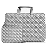 MOSISO Laptop Sleeve Compatible with 13-13.3 inch MacBook Pro, MacBook Air, Notebook Computer, Shock Resistant Diamond Foam Water Repellent Neoprene Protective Case Carrying Bag Cover, Gray