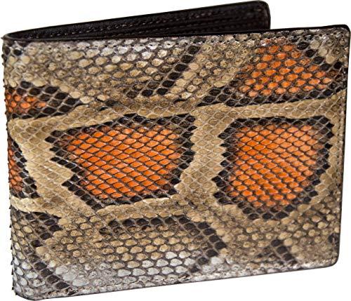 Etabeta Artigiano Toscano - Cartera de hombre de auténtica piel de serpiente con certificado CITES - Pintada a mano - Fabricada en Italia, Var 1 (Multicolor) - Mol_002_v1_2021