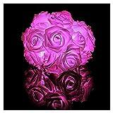 LLLWWW 6 Metros y 40 LED Rose Luces de Cadena Resistente al Agua, adecuados para Bodas, reuniones Familiares, Celebraciones de cumpleaños, de Interior y decoración al Aire Libre Roses Lilac