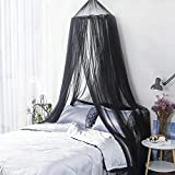 Mosquito Net, King Size Bed Canopy Hanging Curtain Netting, Princess Round Hoop Sheer Bed Canopy for Single to Fits All Cribs and Beds for Adult Bedroom, Kids Rooms, Baby Bassinet, Garden, Camping