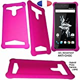 Silicone gel case compatible with Gionee Elife E8 - Pink -