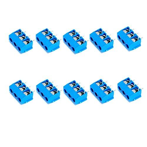 Verwisselbare Accessoires LDTR-YJ022 3 Pin 5.0mm Laatste Blocks Connectors - Blauw (10-delig)