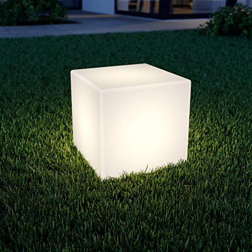 Lindby LED Solarleuchten 'Ziva' (spritzwassergeschützt) (Modern) in Weiß (4 flammig, A+, inkl. Leuchtmittel) - Solarlampe, Solarleuchte Garten