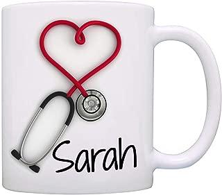 AHTOSKA Personalizado. Taza de café con Estetoscopio, un Regalo Divertido y único para Enfermeras y médicos, Impresa en Ambos Lados.