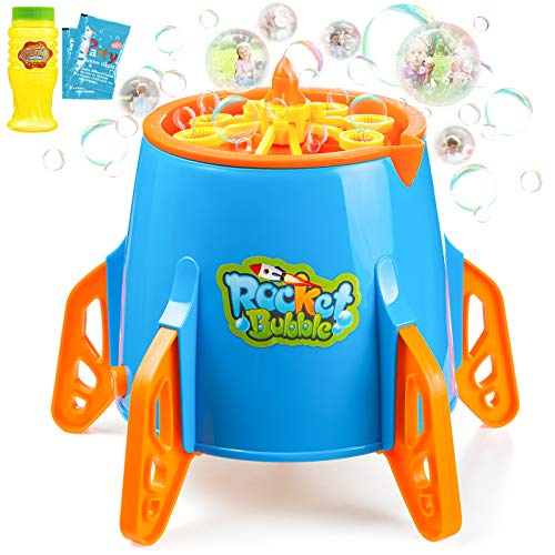 Esnowlee Máquina de Burbujas para Niños, Juguete de Baño para Bebés Maquina Pompas Jabon Automática Perrito, con 1 Botellas de Burbujas, Soplador de Burbujas para Fiestas, Cumpleaños, Bodas
