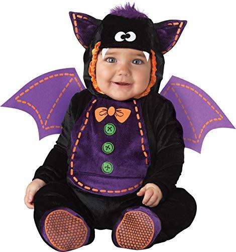 De Luxe Bébé Garçons Filles Chauve-Souris Livre Jour Halloween en Personnage Costume Déguisement - Noir, Noir, 6-12 Months