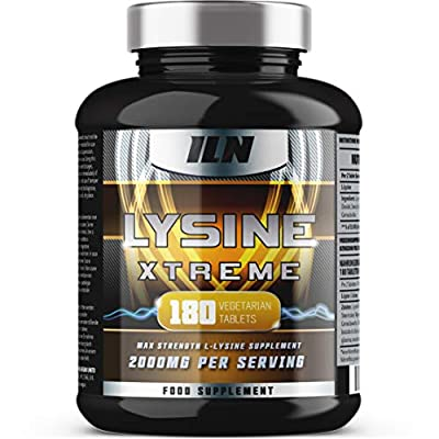 Iron Labs Nutrition, Lysine - L-Lysine 2000mg Supplement - 2000mg Lysine x 90 Servings - 180 Vegetarian Tablets - UK Made