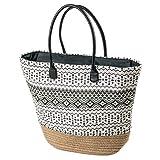 LaFiore24 Einkaufstasche Damen Shopper Ethno Strandtasche Badetasche Schultertasche Reissverschluss...