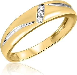 1/20 Carat T.W. Diamond Men's Wedding Band 14K White Gold