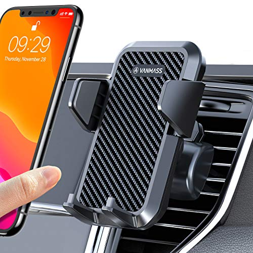 VANMASS Universal Air Vent Car Phone Holder & 2 Air Vent Clip Supplied, Patent Quick Release Button Cell Phone Holder for Car, Suit for All Series iPhone, Galaxy, LG etc. Even with Thick Case