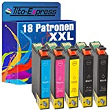 Tito-Express PlatinumSerie 18 Patronen XXL kompatibel mit Epson T1291 T1292 T1293 T1294 12XL | B42WD BX305FW BX305F BX320FW BX525WD BX535WD BX625FWD BX630FW BX635FWD BX925FWD BX935FWD