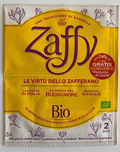 Zaffy Zafferano Biologico confezione da 2 bustine ideale per preparazioni dolci e salate