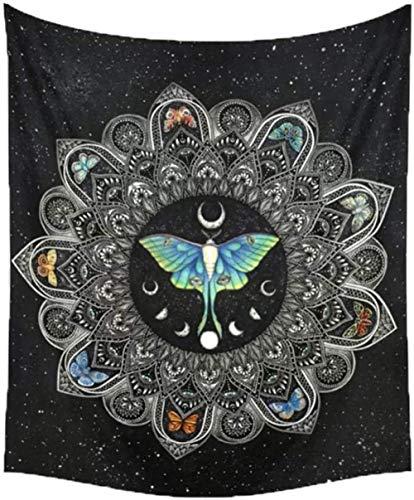 Yhjdcc Tapisserie Wandbehang Mond Phase Wechsel Wandteppiche Schlafzimmer Dekor Tagesdecke ¨¹berwurf Abdeckung Sun Moon Wanddekoration 150cm x 200 cm