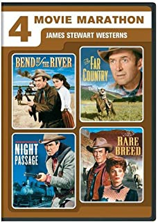 4 Movie Marathon: James Stewart Western Collection: (Bend of the River / The Far Country / Night Passage / The Rare Breed)