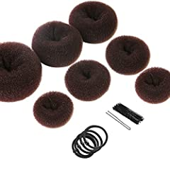 Multiple sizes: Available in 4 sizes (Extra-large, Large, Medium, Small), suitable for thick or thin hair Easy to use: gather hair within the donut, then wrap hair and fasten with pins.Give you a most natural and stable hair style in a few minutes Fa...