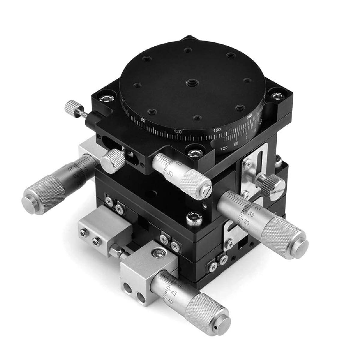 ピニオン不名誉高くZIVI XYZθ軸 微動ステージ クロスローラテーブル 一体式 Φ60mm LT60-LM