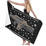 THE LOOMIA Alien All I Want for Christmas is A Pulse Rifle Bath Towel Five-Star Hotel Quality .Premium Collection Bathroom Towel.Soft,Plush and Highly Absorbent (1 Bath Towel 31x59 Inches)