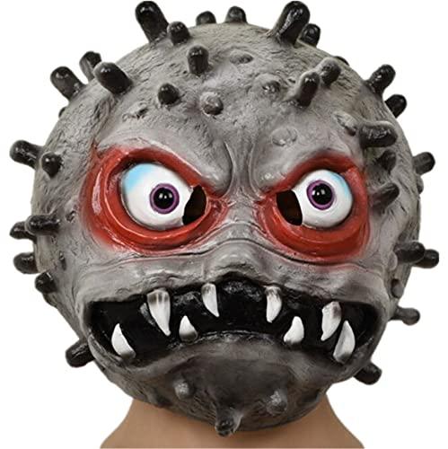 Milu deer Accesorios Propaganda Antiepidémica Máscara Virus Accesorios Carnaval Halloween Accesorios para La Cabeza para La Fiesta Halloween (Color : Gris, Size : One Size)