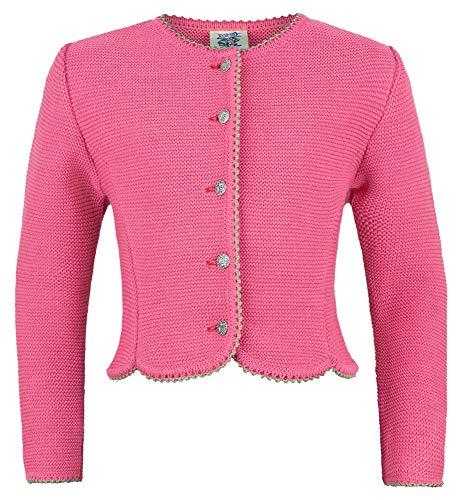 Isar-Trachten Amy 47068 - Chaqueta de punto para niña, color rosa rosa 104 cm