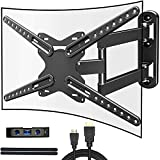 JUSTSTONE Full Motion TV Wall Mount Bracket for Most 28-72 Inch TVs Up to 110lbs,Wall Mount TV Bracket with Swivels Tilts & Extends,Sturdy TV Mount for Max VESA 600x400mm