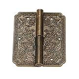 Las bisagras ornamentadas 1pc 60 * 50 mm Muebles de bronce antiguo Armario de bisagra Cajón de la puerta de la puerta de la bisagra Accesorios Accesorios de joyería Bisagra