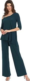 Joseph Ribkoff Womens Glitter Strap Jumpsuit Style 194025