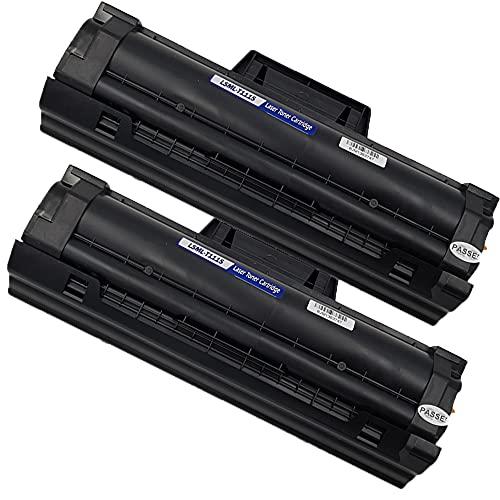 Pure-Color MLT-D111S D111S Cartucho de tóner Compatible de Repuesto para Samsung Xpress SL-M2026 SL-M2026W SL-M2070 SL-M2070FW SL-M2070W SL-M2020 SL-M2020W SL-M2022 SL-M2022W SL-M2078W (2 Negros)