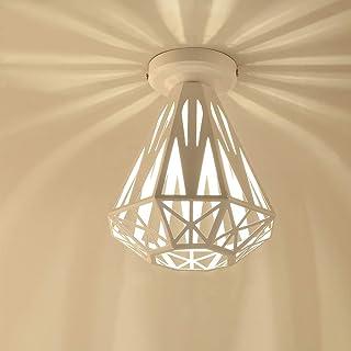 iDEGU Plafonnier Vintage Industrielle Lustre en Fer Cage Abat-jour Lampe de Plafond E27 Éclairage Décoration Suspension Lu...