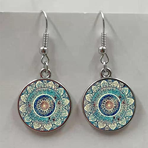 XCWXM Fashion Glamor Art Image Earrings Henna Crystal Earrings Glass Earrings Female Jewelry-bronze4