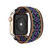 PZZZHF Loop Banda Bohemia elástico de Nylon for Apple Seguir 6SE Correa 38/40 mm 42/44 mm for IWATCH 5/4/3 2 Hombre Mujeres Ver Banda (Band Color : Boho, Band Width : 42mm 44mm S M)