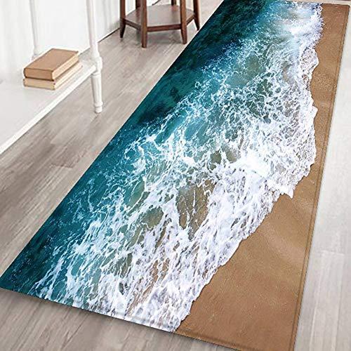 Grand tapis antidérapant à rayures pour salon, chambre à coucher, couloir, cuisine