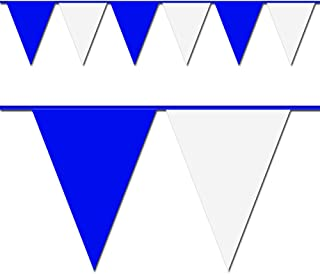 Blue and White Triangle Pennant Flag 100 Ft.