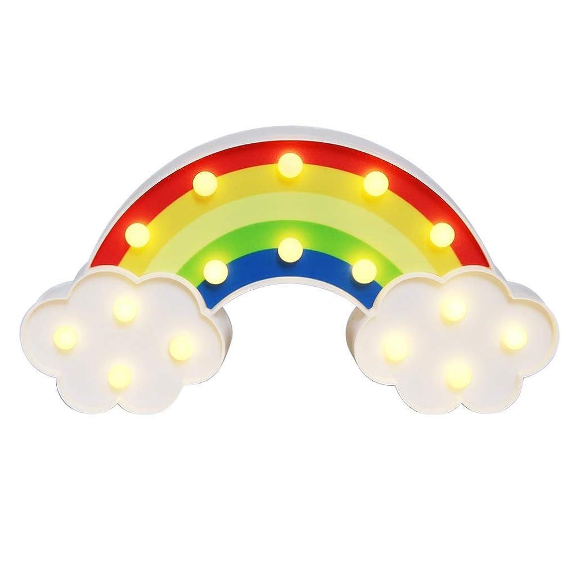 染色名声挑発するYingkou LED レインボー モデリングライト 3dナイトライト デスクトップクリエイティブ ナイトライト 用赤ちゃん 子供 寝室 レインボーライト