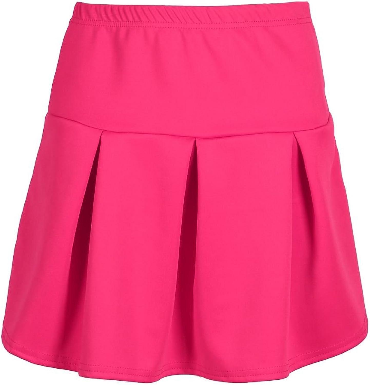 Oops Outlet Flared Skater Skirt Girls High Waisted Stretchy Swing Mini Skirt