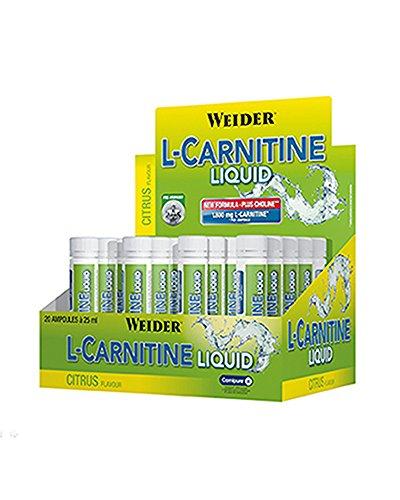 Weider Integratore Alimentare di L-Carnitine, Sapore Limone - 20 Fiale