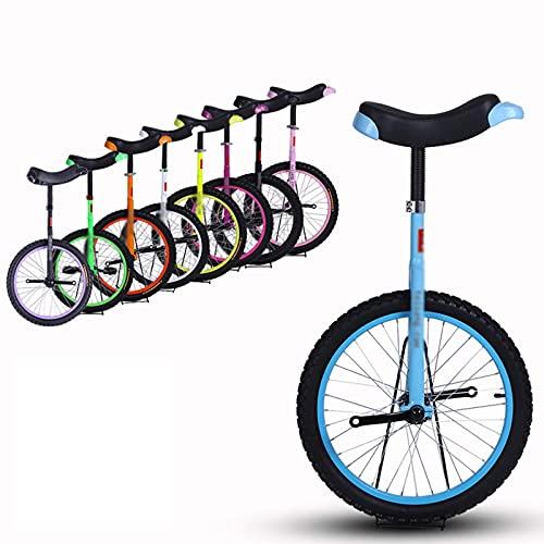 YQG Einrad, 16 Zoll Bequemer Und Verstellbarer Sattel Kinder Trainer Rad Einrad Stark Und Robust Radsport Im Freien (Color : Blue, Size : 16 inches)