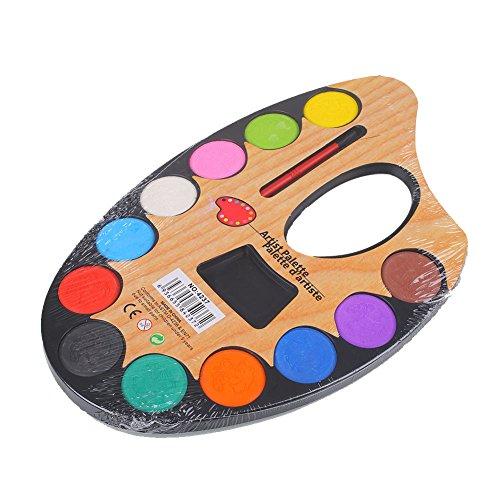 Kicode Graffiti Paint Crafts Poudre aquarelle colorée Enfants Enfants École de dessin Art La peinture Brosse à outils