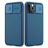 Nillkin Custodia per iPhone 12/12 PRO, CamShield PRO [Protezione Fotocamera] Bumper Protettiva Ultra Sottile Leggero Custodia Anti Graffio Hard PC Case Back Cover per 12/12 PRO (Blu)