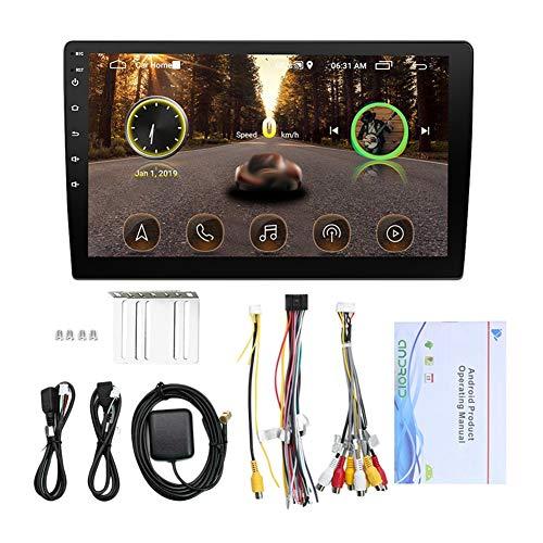 BOLORAMO Car Navigator, Car Stereo Audio Reproductor de MúSica 10.1In Pantalla TáCtil Capacitiva Mp5 NavegacióN GPS Radio Audio Reproductor Multimedia para Sistema Android Negro