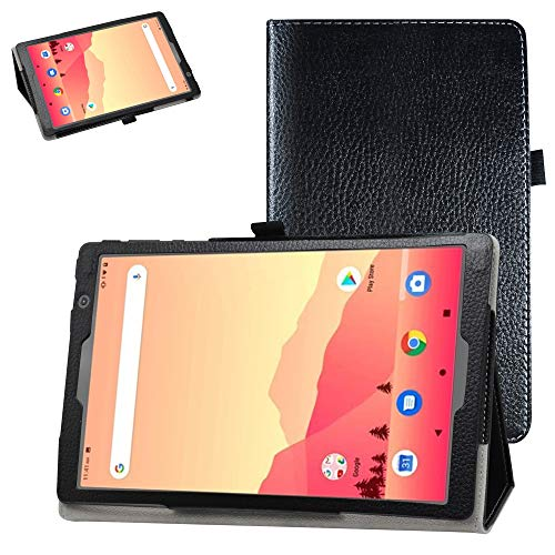 """Bige for Vankyo MatrixPad S20 10 inch Tablet Case,PU Leather Folio 2-Folding Stand Cover for 10"""" Vankyo MatrixPad S20 Tablet/YUNTAB D107 10.1 inch Tablet PC,Black"""