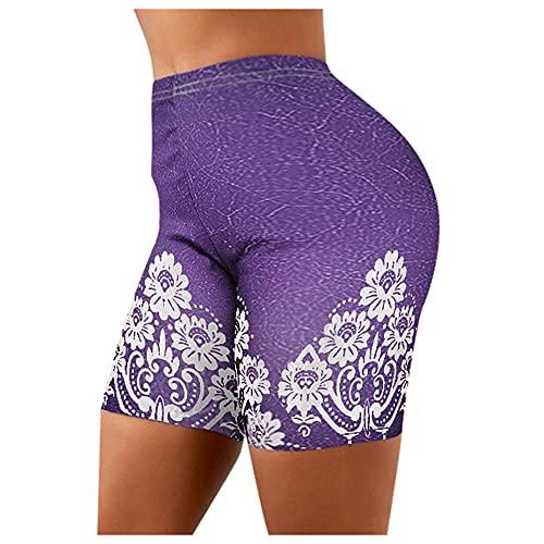 N\P Las mujeres pantalones cortos de yoga polainas de verano de mezclilla de las señoras corto verano femenino cintura alta yoga