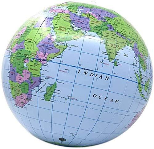 Globes Universal Rotation Globes Globe PVC Aufblasbare Erde Strandball Lehrmodell Lehrmittel Perfekt für Schreibtischdekoration und am besten für Kinder (Blau, 25 cm)