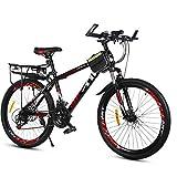 YXWJ 26 pulgadas de aluminio de bicicletas de montaña MTB de la bicicleta 21 de velocidad Doble Disco de freno Estudiante Adulto coche hombres y de mujeres de velocidad variable bicicleta de montaña u